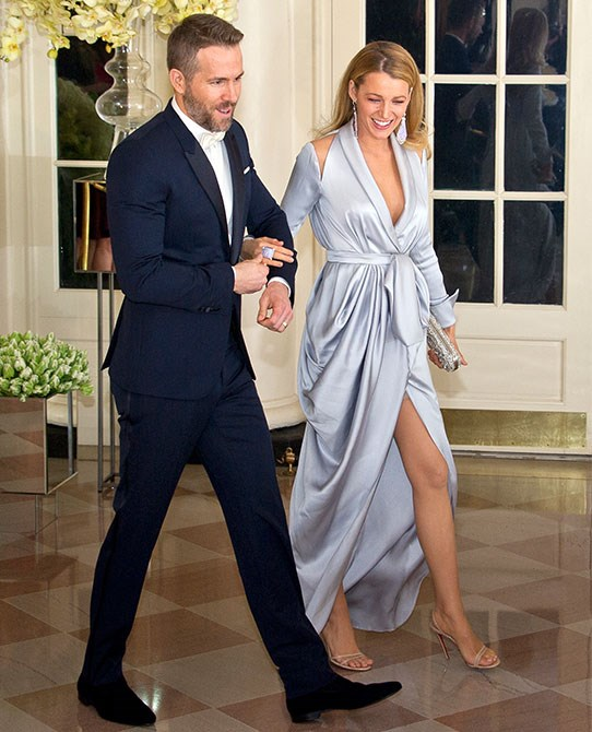 This picture is EVERYTHING goals. Blake and husband Ryan Reynolds attended a dinner at the Whitehouse in 2015 and just look at that dress.