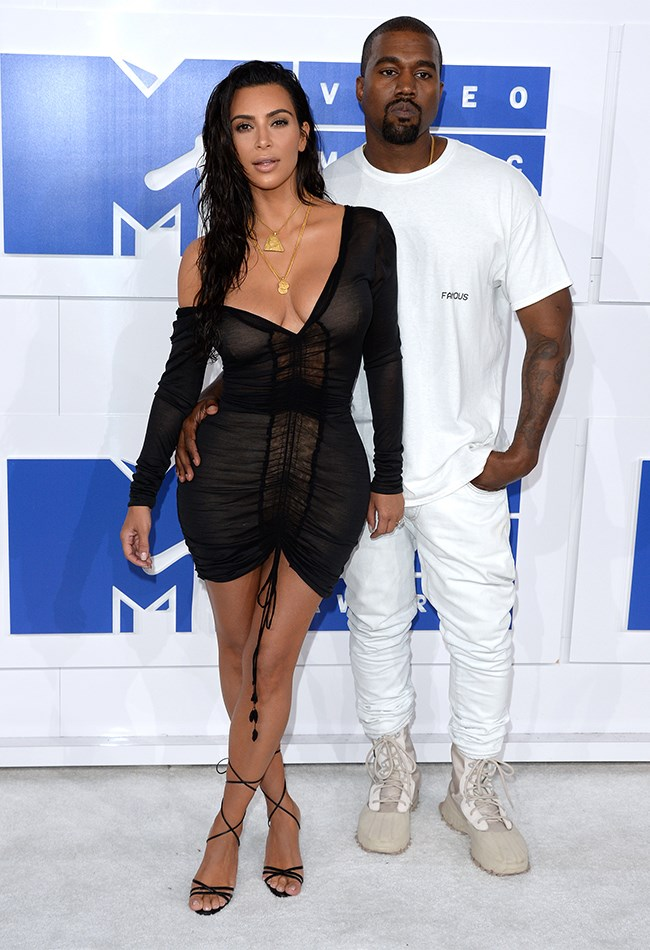 Kim won the 2016 VMAs red carpet in vintage Galliano. *insert ALL of the fire emojis here*