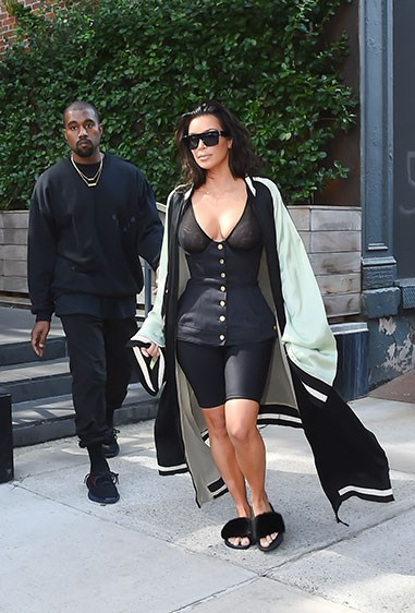 Y'know when you get up in the morning and you just can't decide between wearing your gym gear, sexy corset top, poolside slides or your grand AF oriental oriental robe? Yup, neither do we.  BUT, if you ever *do* find yourself in such a dilemma, Kimmy K wants you to know you don't have to choose - you can just wear everything 'cause you're an absolute Kween who DGAF what anybody else thinks.