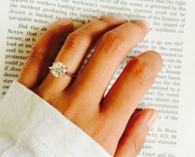 "**1.** Lauren Conrad's engagement ring ([via](http://boards.weddingbee.com/topic/rose-gold-solitaire-ring/#ixzz3QCc7i0II&i|target=""_blank""))."