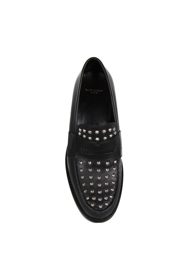 """Loafers, $1,100, Saint Laurent, <a href=""""http://cultstatus.com.au/collections/flats/products/template-slp-shoes#.VDYLVPmSwdM"""">cultstatus.com.au</a>"""
