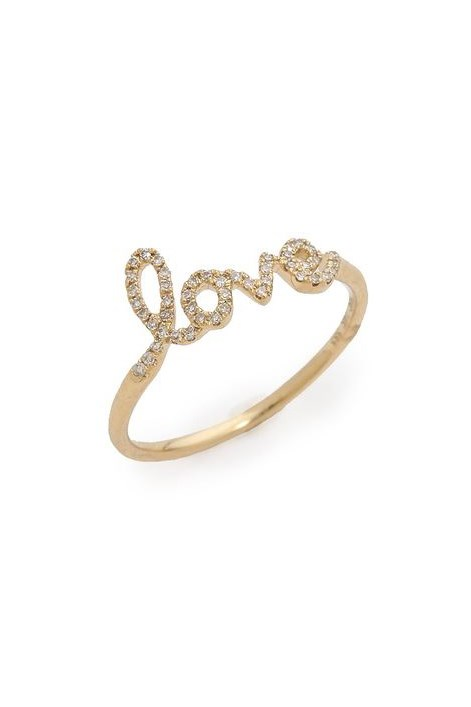 "Ring, $695, EF Collection, <a href=""http://www.shopbop.com/diamond-love-ring-ef-collection/vp/v=1/1596607400.htm?folderID=2534374302060434&fm=other-shopbysize-viewall&colorId=40863"">shopbop.com</a>"