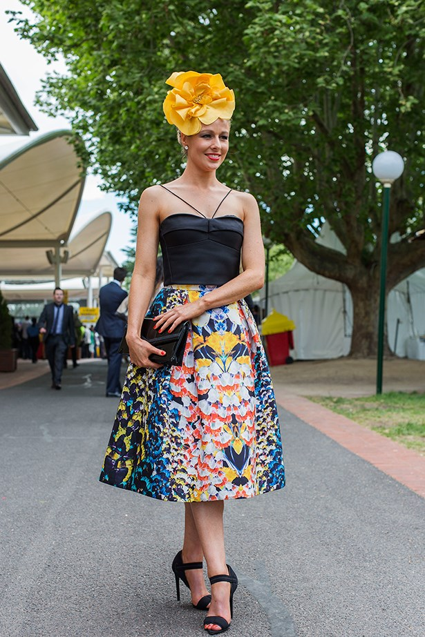 Elise Pape at the Caulfield Guineas Day 2014 in Melbourne