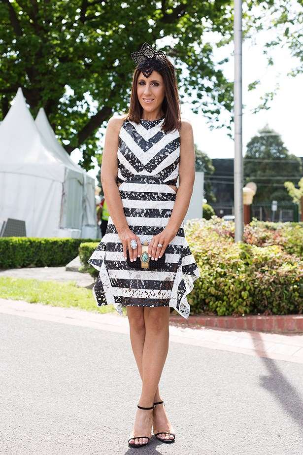 Lana Wilkinson at the Caulfield Cup 2014 in Melbourne