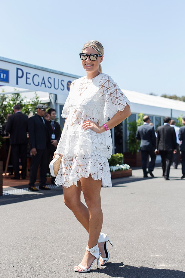 Lisa Hamilton at the Caulfield Cup 2014 in Melbourne