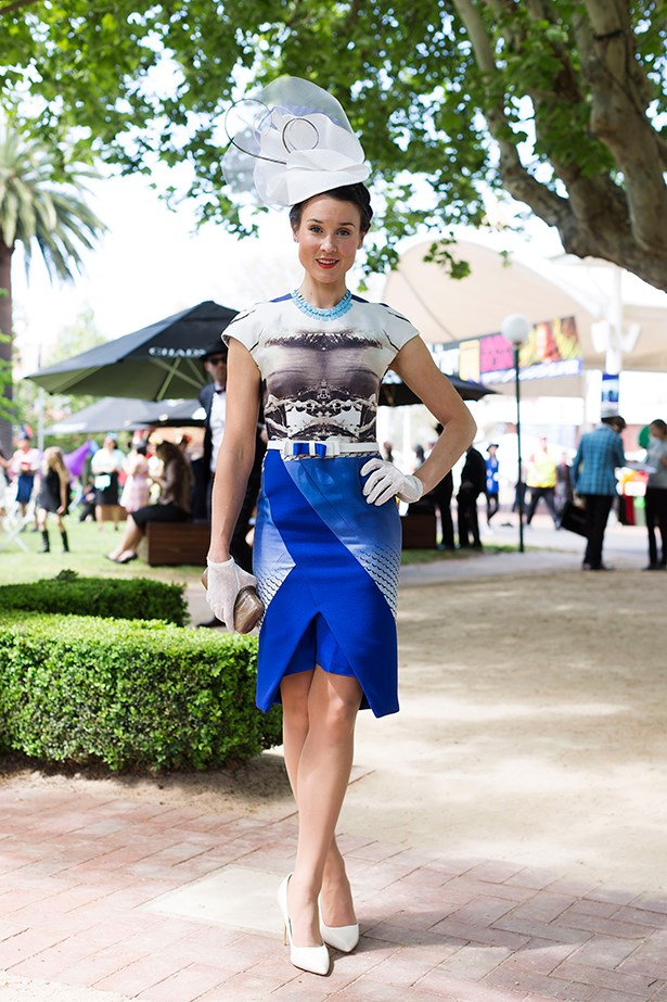 Maddy Collopy at the Caulfield Cup 2014 in Melbourne