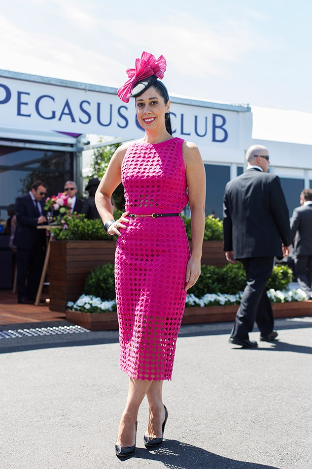 Nicqui Merlino at the Caulfield Guineas Day 2014 in Melbourne
