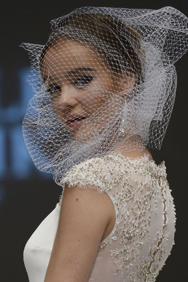 Veils at Bridal Fashion Week Week Autumn Winter 2015