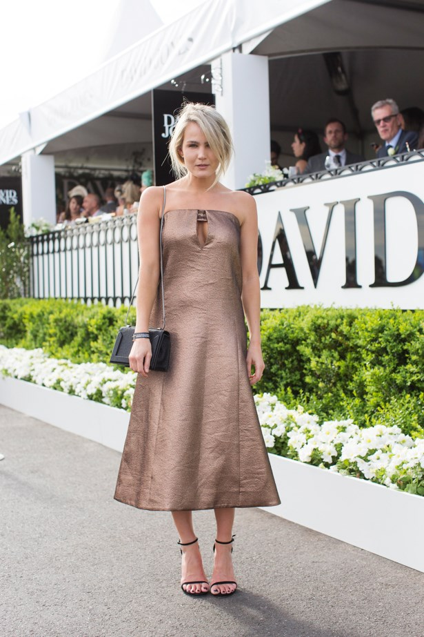Brooke Testoni at the 2014 Caulfield Cup in Melbourne