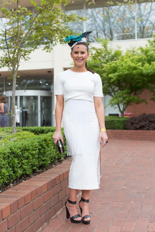 Ellie Ingwersen at the 2014 Caulfield Cup in Melbourne