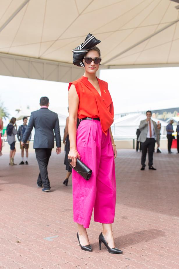Bojana Andovska at the 2014 Caulfield Cup in Melbourne