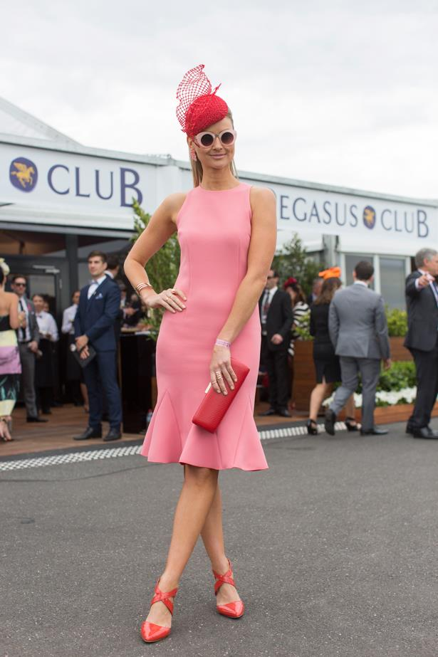 Bree Laughlinat the 2014 Caulfield Cup in Melbourne