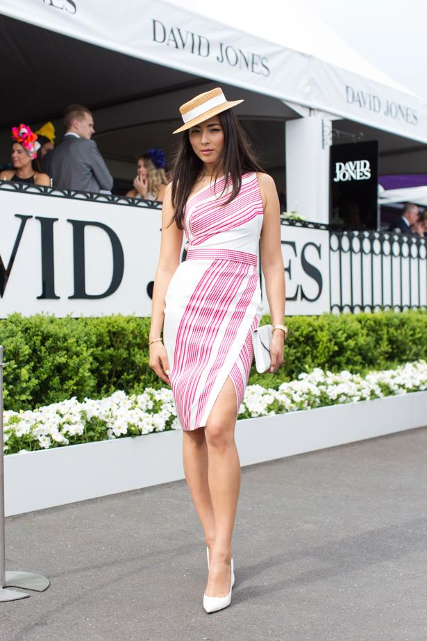 Jessica Gomes at the 2014 Caulfield Cup in Melbourne