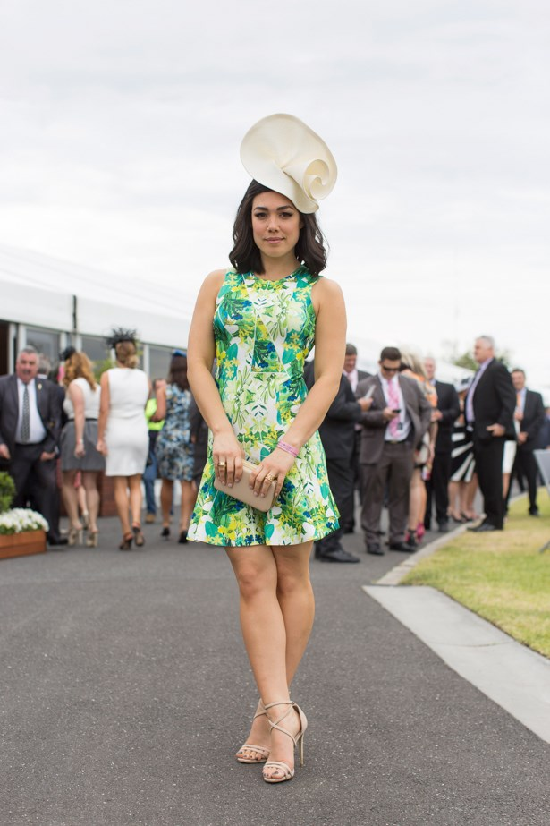 Melanie Vallejo at the 2014 Caulfield Cup in Melbourne