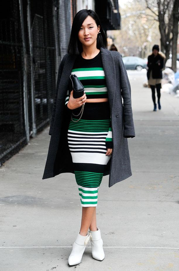 There's not many who could make white ankle boots and midriffs look so chic.