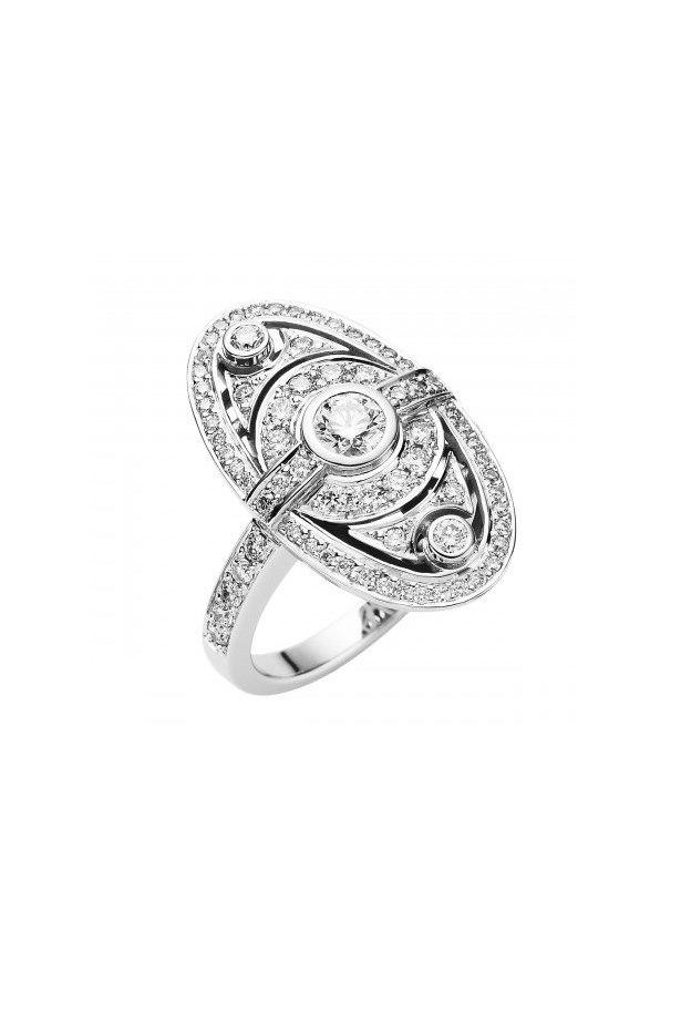 "<strong>Under $7,000</strong> <br><br> Ring, $6,450, Jan Logan, <a href=""http://www.janlogan.com/diamond-celebration-ring-11875"">janlogan.com</a>"