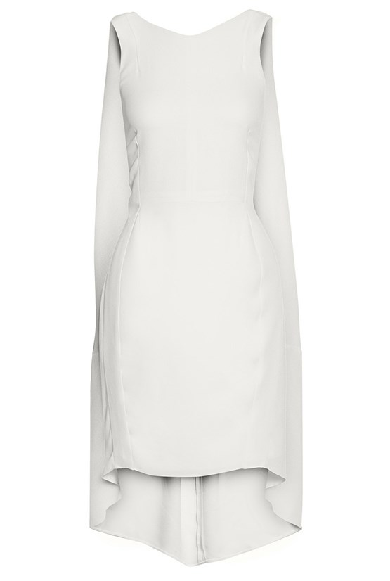 "Dress, $2,431, Narciso Rodriguez, <a href=""http://www.net-a-porter.com/product/461929/Narciso_Rodriguez/cape-back-crepe-dress"">net-a-porter.com </a>"