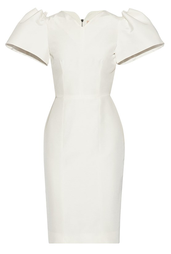 "Dress, $2,170, Roksanda Ilincic, <a href=""http://www.net-a-porter.com/product/477099/Roksanda_Ilincic/lynton-silk-dupioni-dress "">net-a-porter.com</a>"