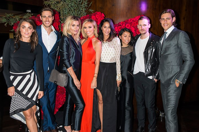 """With the most hunted crew, at the glamorous Westfield SS14 launch party. So happy to be fronting this season's campaign with these stylish Aussies."""