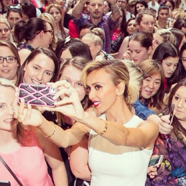"""Crowd selfie! Such a great turn out to see the most hunted looks of SS14 at Westfield Garden City."""