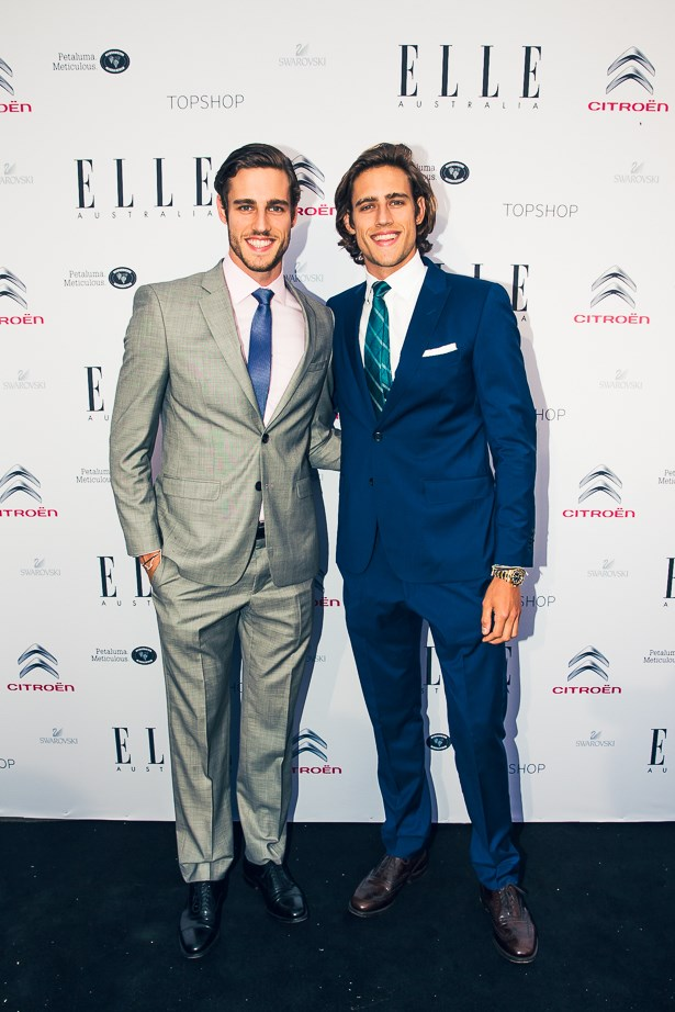 Jordan and Zac Stenmark wearing Calvin Klein