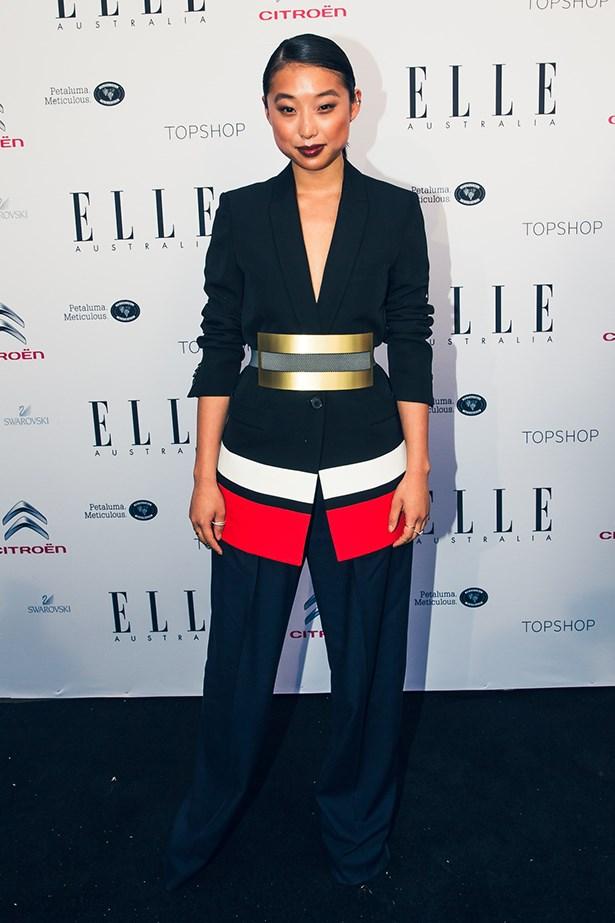 Margaret Zhang wearing Givenchy, Lanvin and Roksanda