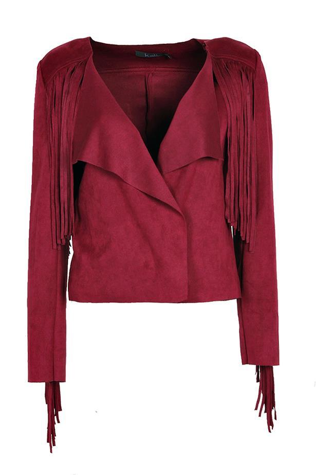 Jacket, $50, BooHoo.com, boohoo.com