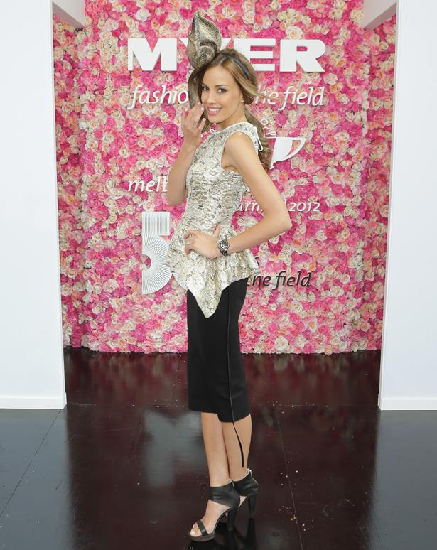 Rebecca Judd's chic separates would be office and pub-appropriate for Melbourne Cup day.