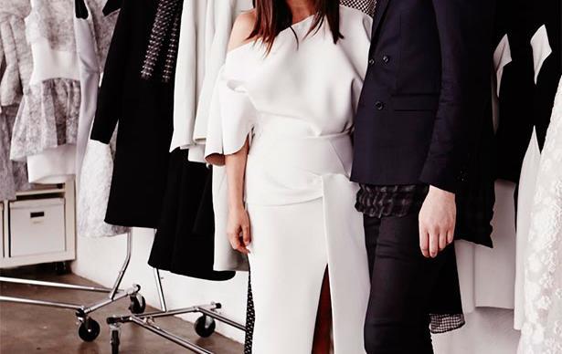Justine Cullen with Toni Maticevski. Photograph: Tane Coffin