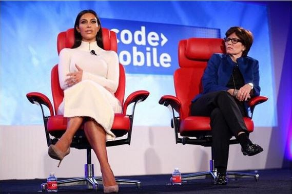 Kim Kardashian tech talk
