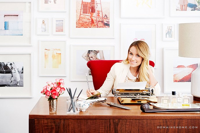 "Lauren Conrad's Paper Crown studio space is warm, but still modern. <br><br> <em>Image courtesy of <a href=""http://www.domainehome.com/lauren-conrads-office-makeover-at-paper-crown/"">domainehome.com</a></em>"