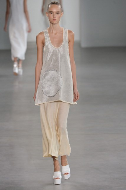 Model on the latest spring runway