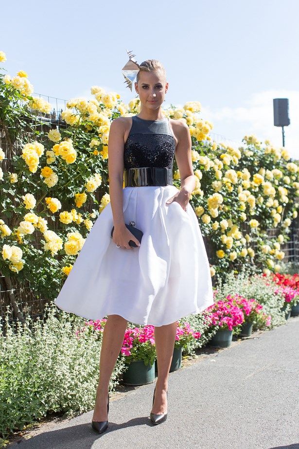 Who: Laura Dundovic<br> Event: Derby Day <br> Location: Melbourne <br>