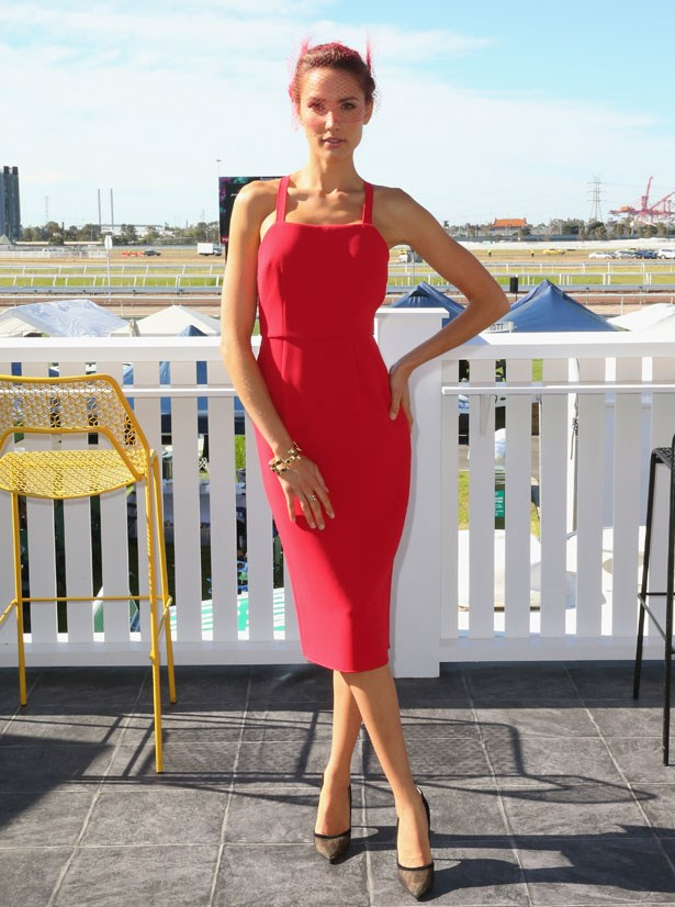 Who: Rachael Finch <br> Location: Melbourne <br> Event: Melbourne Cup 2014  <br>