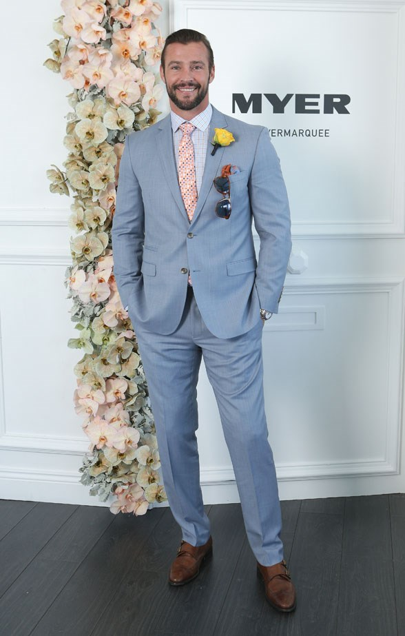 Who: Kris Smith <br> Location: Inside the Myer Marquee in Melbourne <br> Event: Melbourne Cup 2014  <br>