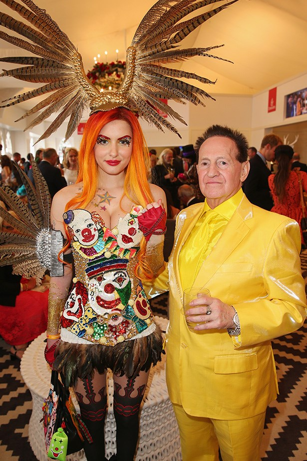 Who: Gabi Grecko and Geoffrey Edelsten <br> Location: Melbourne <br> Event: Melbourne Cup 2014  <br>
