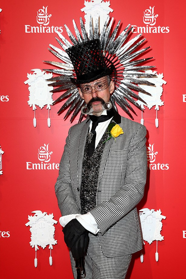 Who: Richard Nylon <br> Location: Inside the Emirates marquee at Melbourne <br> Event: Melbourne Cup 2014  <br>