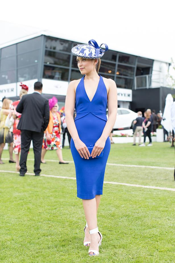 Name: Anette Adams <br> Event: Melbourne Cup 2014 <br> Location: Melbourne <br> Image: Liz Mcleish of Streetsmith.com.au