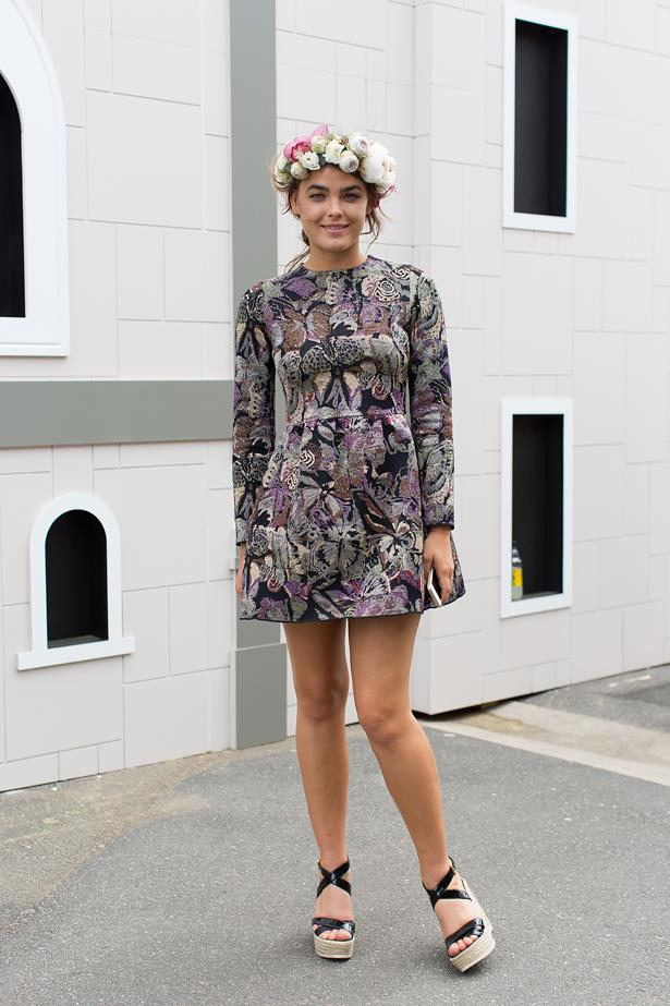 Name: Bambi Northwood-Blyth<br> Event: Melbourne Cup 2014 <br> Wearing: Valentino Dress <br> Location: Melbourne <br> Image: Liz Mcleish of Streetsmith.com.au