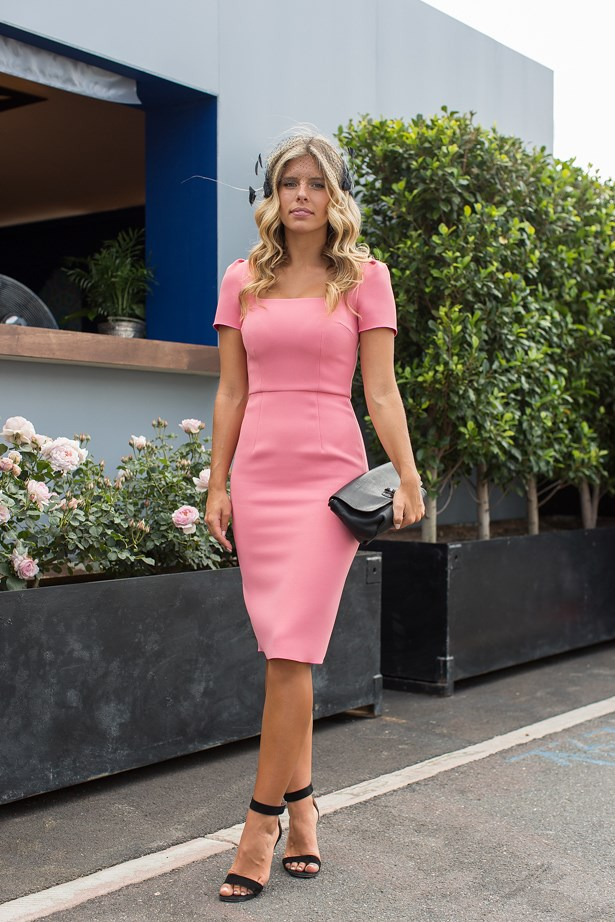 Name: Natasha Oakley<br> Event: Melbourne Cup 2014 <br> Wearing: Yeojin Bae<br> Location: Melbourne