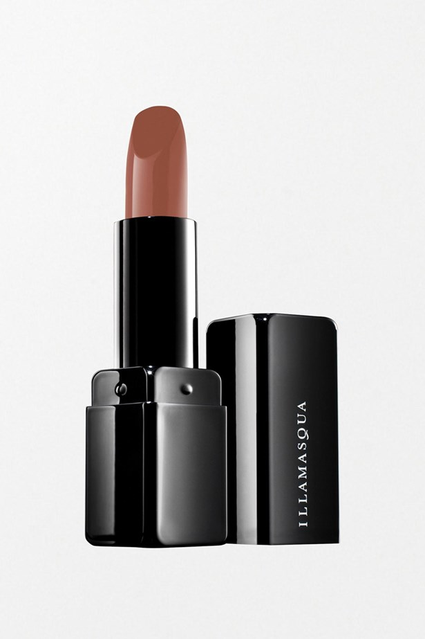 """This spicey fleshy-pink shade is ideal for medium to dark skin tones, and its highly pigmented formula means you can apply, and forget. <br><br> Glamore Lipstick in Starkers, approx $36, Illamasqua at ASOS, <a href=""""http://www.asos.com/Illamasqua/Illamasqua-Glamore-Lipstick---Nude-Collection/Prod/pgeproduct.aspx?iid=4595659?SearchQuery=illamasqua&sh=0&pge=0&pgesize=36&sort=-1&clr=Tease&affId=2438&WT.tsrc=Affiliate"""">asos.com</a>"""