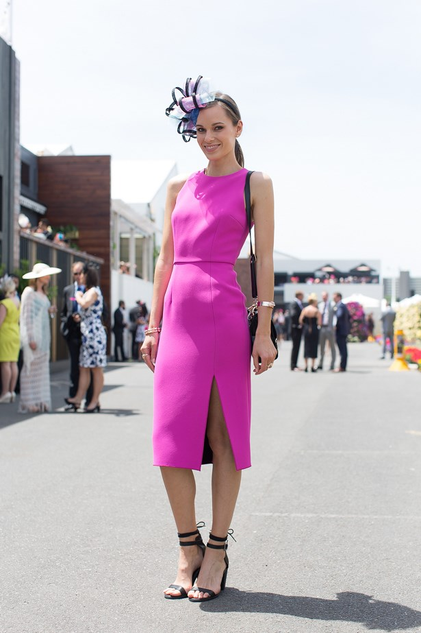 Name: Julia Pratt<br> Event: Crown Oaks Day 2014 <br> Location: Melbourne <br> Image: Liz Mcleish of Streetsmith.com.au