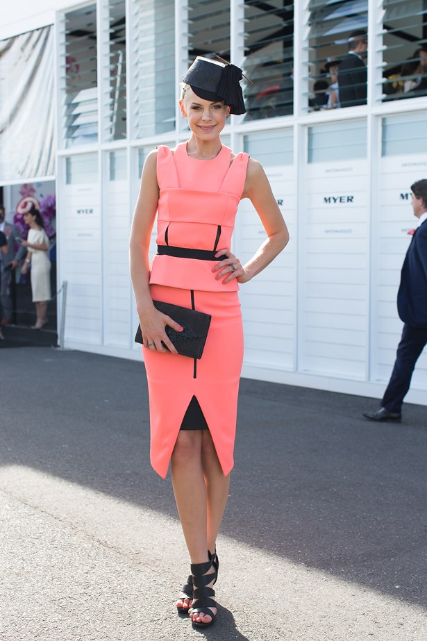 Name: Kate Peck<br> Event: Crown Oaks Day 2014 <br> Location: Melbourne <br> Image: Liz Mcleish of Streetsmith.com.au