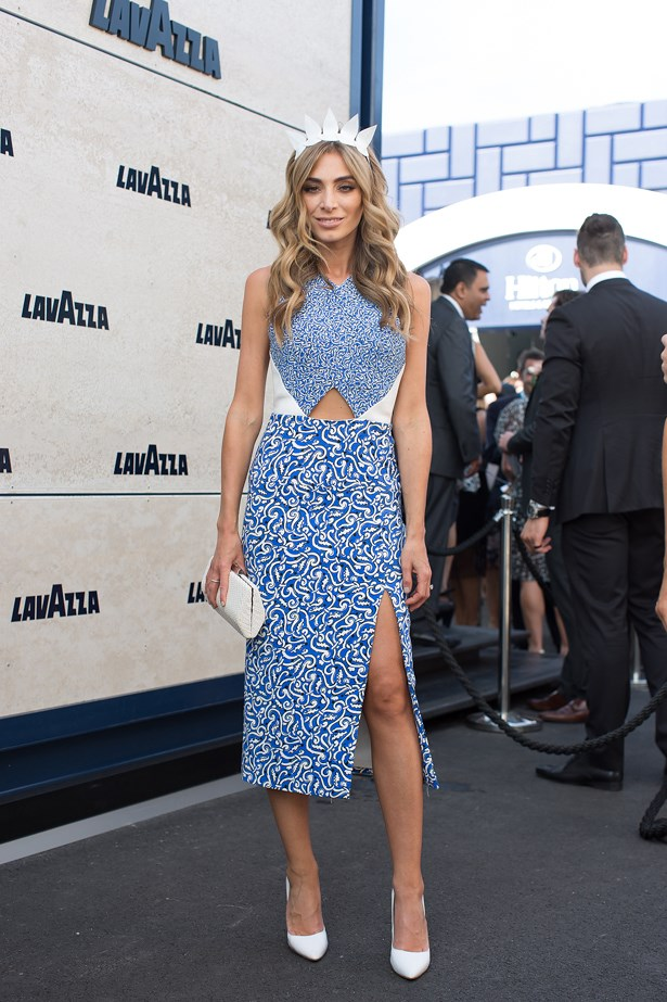 Name: Nadia Bartel<br> Event: Crown Oaks Day 2014 <br> Location: Melbourne <br> Image: Liz Mcleish of Streetsmith.com.au