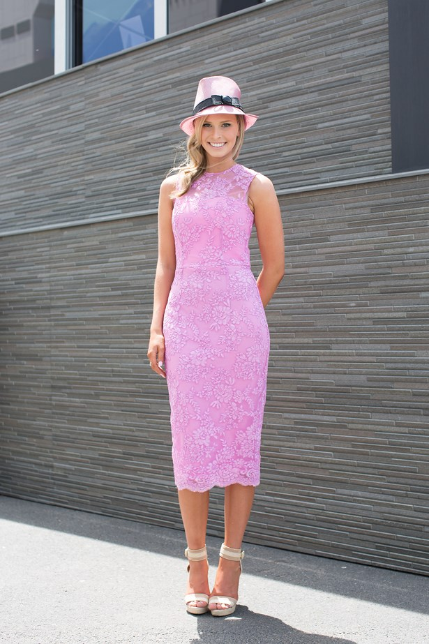 Name: Rebecca Hunt<br> Event: Crown Oaks Day 2014 <br> Location: Melbourne <br> Image: Liz Mcleish of Streetsmith.com.au
