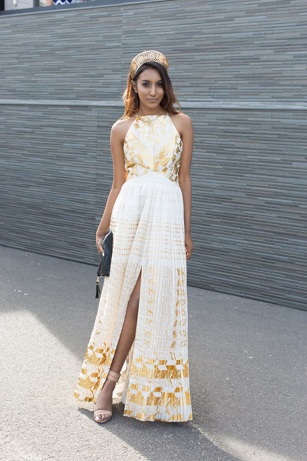 Name: Vydia Rishie<br> Event: Crown Oaks Day 2014 <br> Location: Melbourne <br> Image: Liz Mcleish of Streetsmith.com.au