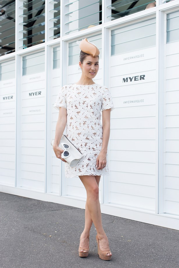 Name: Emily Highfield<br> Event: Emirates Stakes Day 2014 <br> Location: Melbourne <br> Image: Liz Mcleish of Streetsmith.com.au
