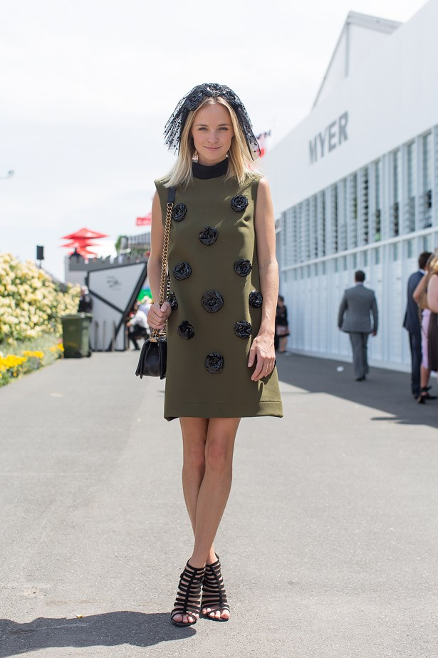 Name: Nadia Fairfax<br> Event: Emirates Stakes Day 2014 <br> Location: Melbourne <br> Image: Liz Mcleish of Streetsmith.com.au