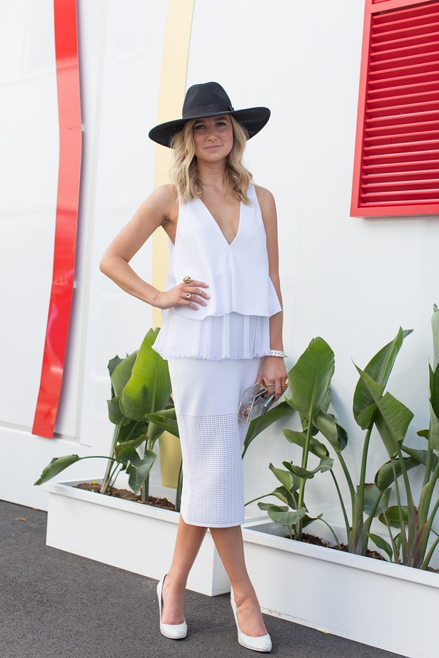 Name: Rebecca James <br> Event: Emirates Stakes Day 2014 <br> Location: Melbourne <br> Image: Liz Mcleish of Streetsmith.com.au
