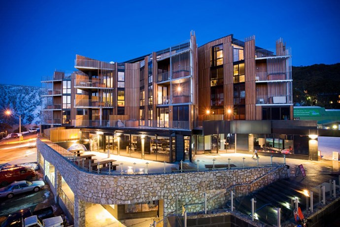 "The only place to stay up here is the beautiful, architecturally sympathetic QT Falls Creek, which features beautiful rooms, each with a hot tub on the balcony, from where you can take in the high country views, and superlative sunsets. You can also relax with a massage at spaQ before delighting your taste buds with a meal at the outstanding Bazaar restaurant, which offers five-star buffet dining for breakfast, lunch and dinner. <br><br> <em>Image courtesy of <a href=""http://www.qtfallscreek.com.au/hotel-rooms/?gclid=CjwKEAiAvvyiBRDzrYuuldy6wB8SJABPJWObcGo4LNcykLDYvODdVDUIO4JWrMkUhTlhn1NAGi55oBoCEuDw_wcB"">QT Hotels</a></em>"